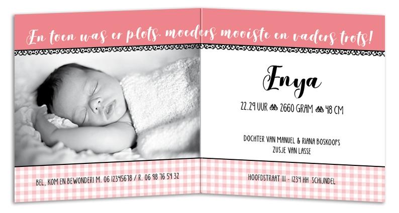 Geboortekaarten Enya