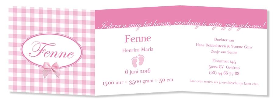 Geboortekaarten Fenne