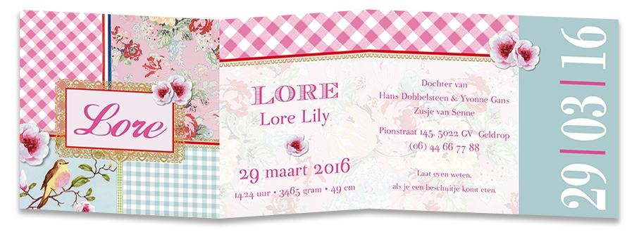 Geboortekaarten Lore