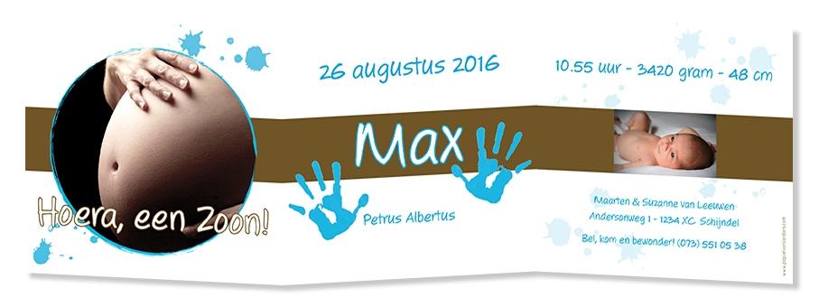 Geboortekaarten Max