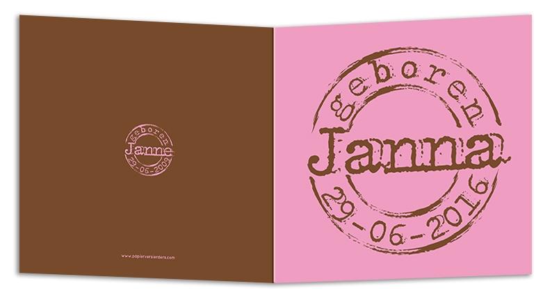 Geboortekaarten Janna