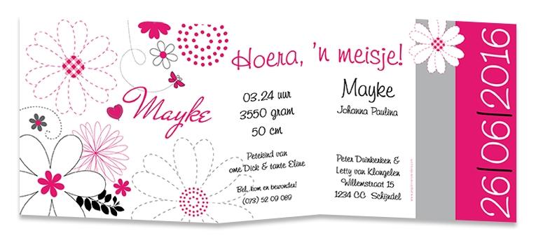 Geboortekaarten Mayke