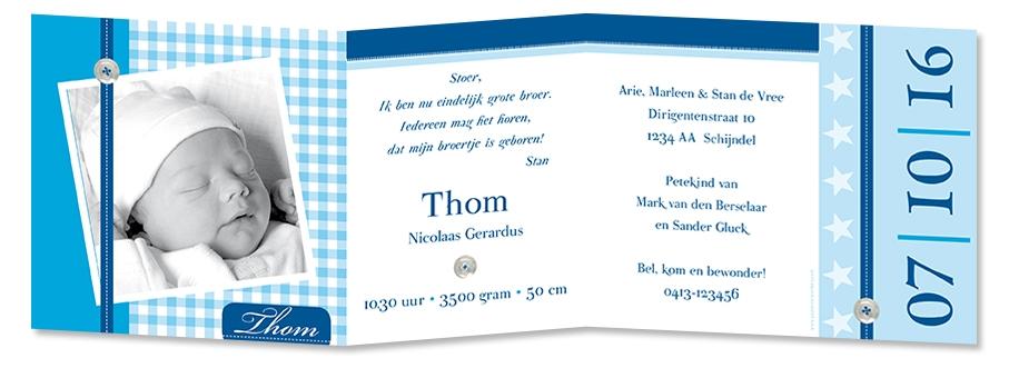 Geboortekaarten Thom