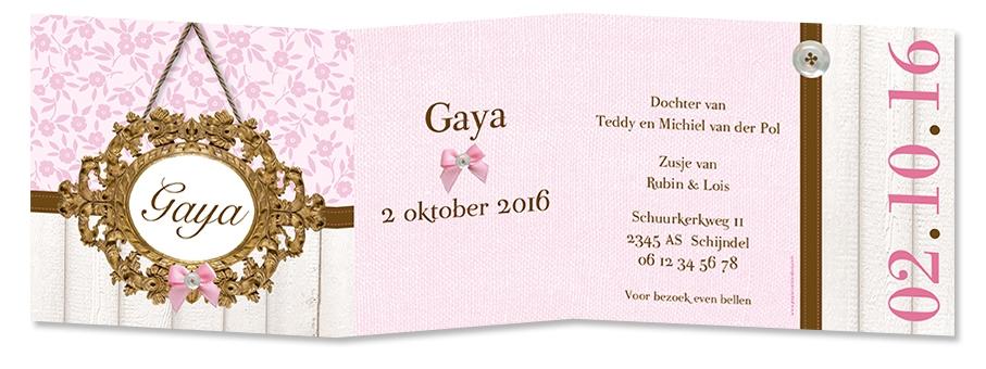 Geboortekaarten Gaya