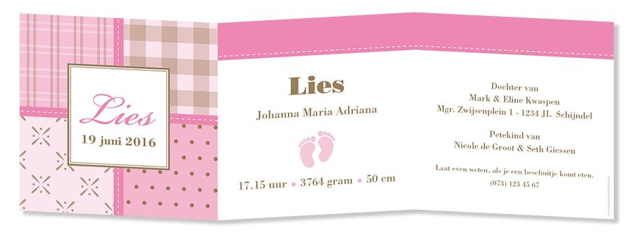 Geboortekaarten Lies