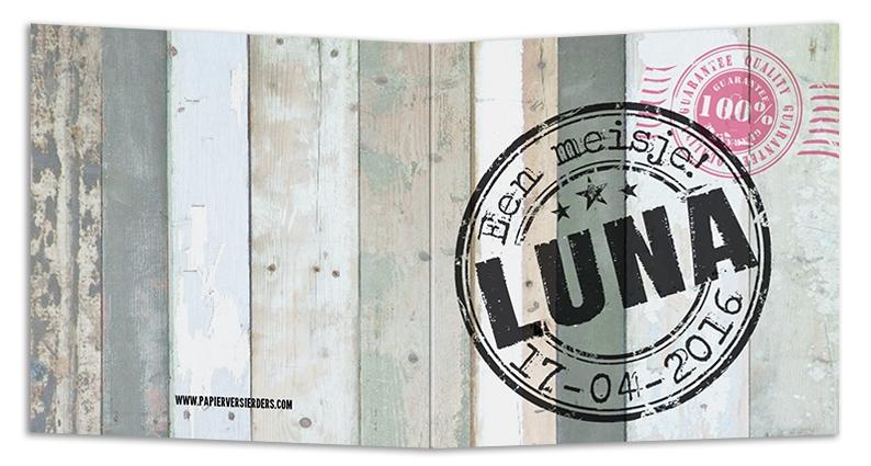 Geboortekaarten Luna
