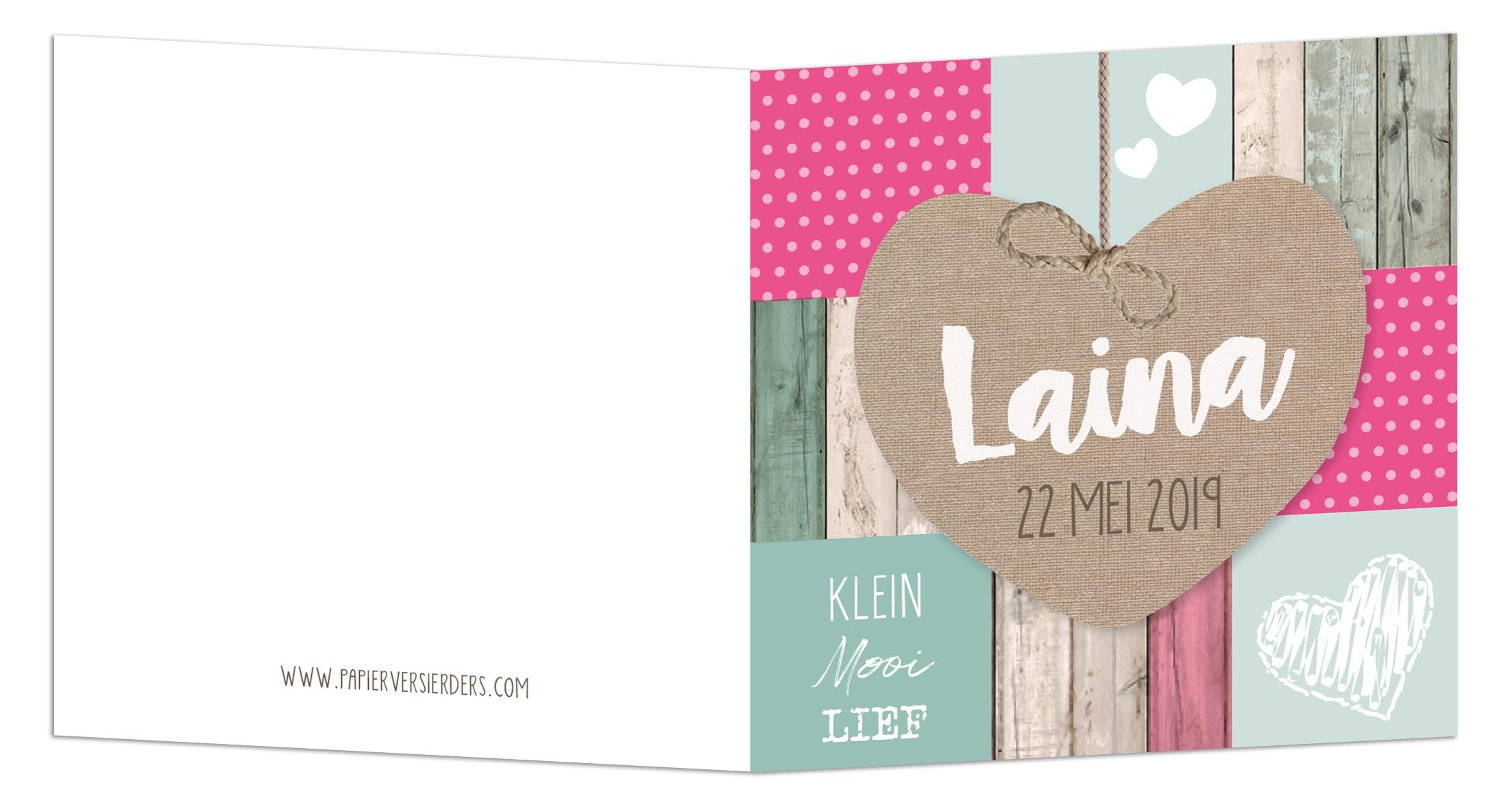Geboortekaarten Laina