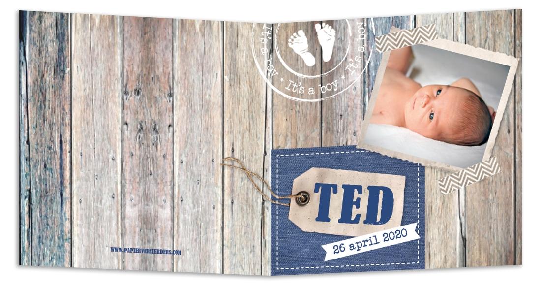 Geboortekaarten Ted