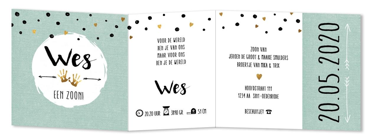 Geboortekaarten Wes