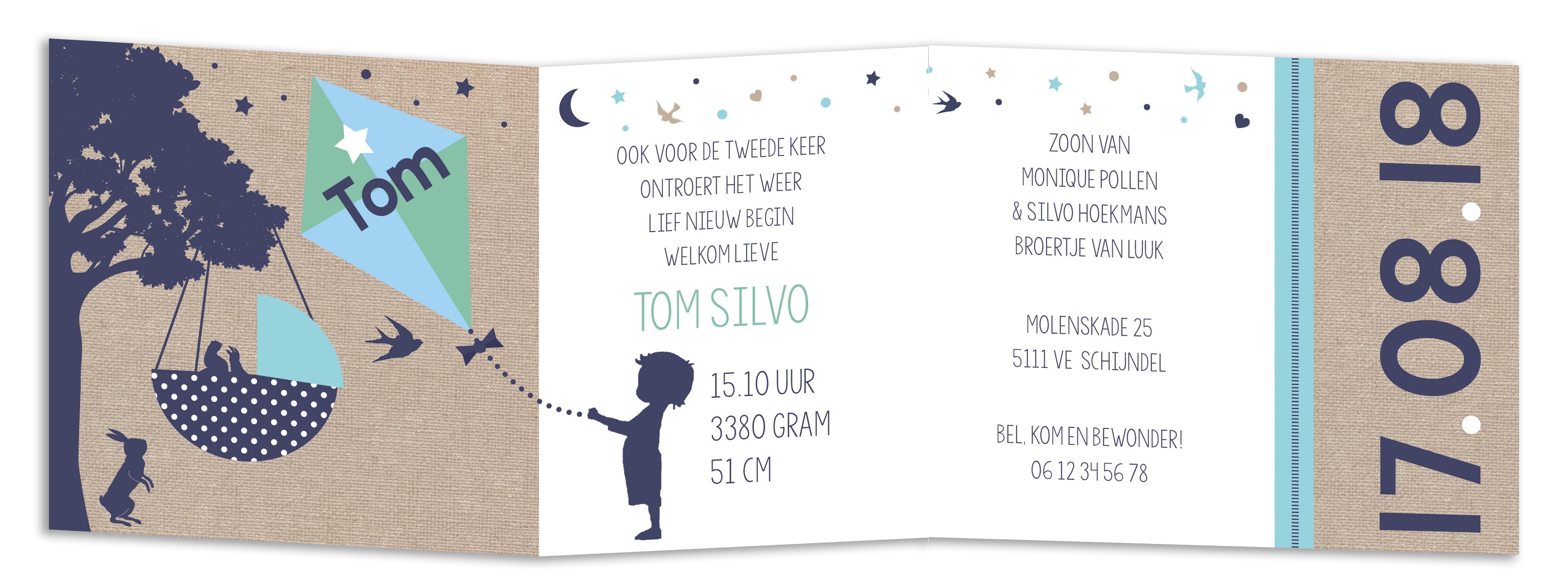 Geboortekaarten Tom