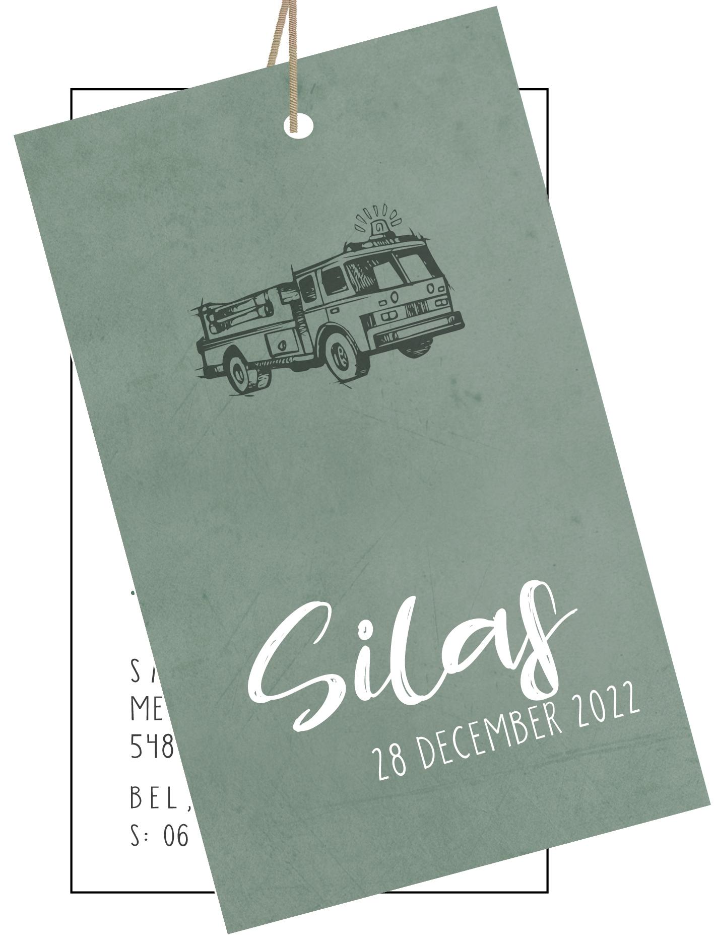 Geboortekaarten Silas