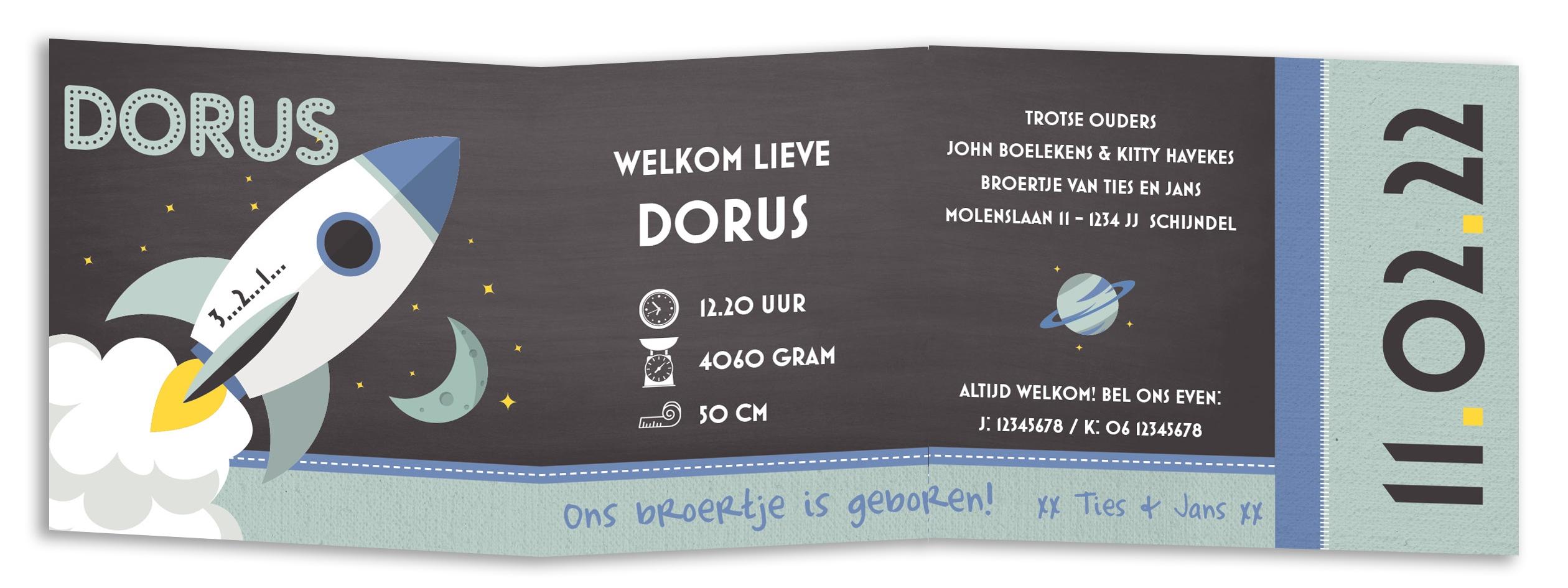 Geboortekaarten Dorus