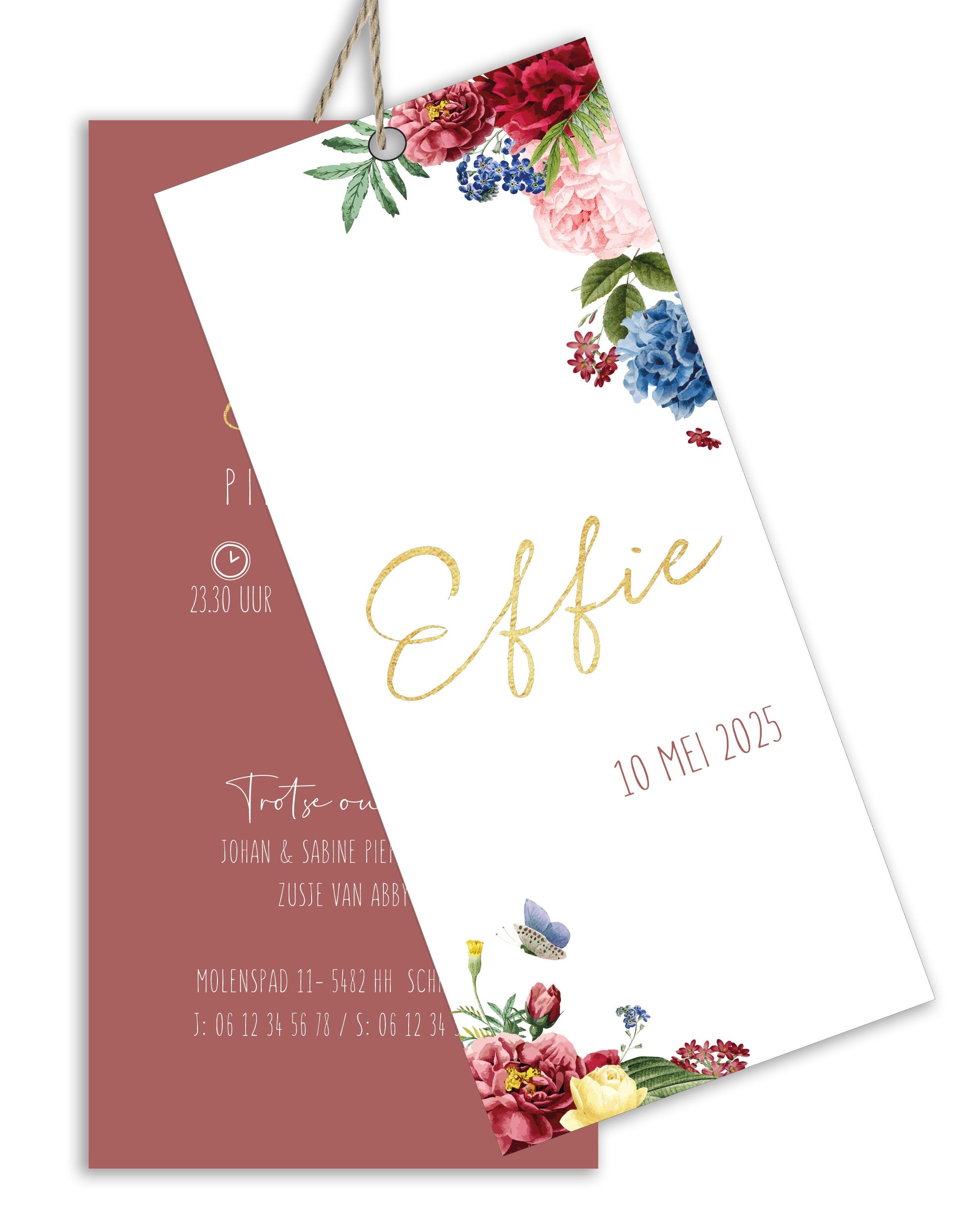 Geboortekaarten Effie