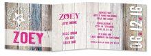 Geboortekaarten Zoey